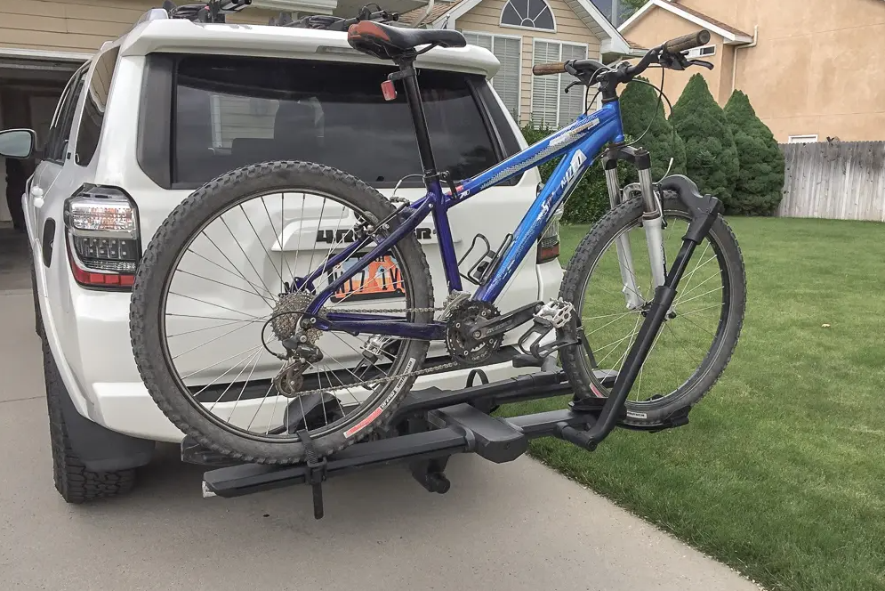 How Much Can You Tilt The Hitch Bike Rack
